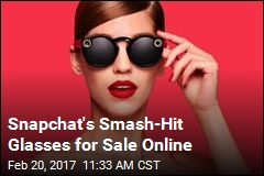 Snapchat Makes Popular 'Spectacles' Available Online
