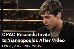 Fiery Milo Loses Invite to Speak at CPAC