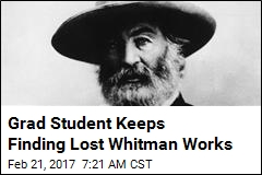 Another Lost Whitman Work Found—This Time, a Novel