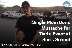 Single Mom Dons Mustache for 'Dads and Donuts'
