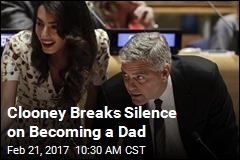 Clooney's First Public Words on Becoming a Dad