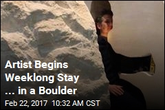 Artist Begins Weeklong Stay ... in a Boulder