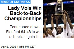 Lady Vols Win Back-to-Back Championships