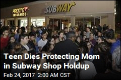 Son Dies Protecting Mom in Subway Shop Robbery
