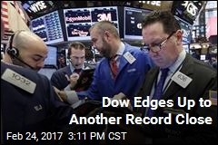 Dow Edges Up to Another Record Close