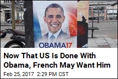 Thousands of People Want Obama for President...of France