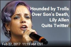 Hounded by Trolls Over Son's Death, Lily Allen Quits Twitter