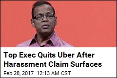 Uber Exec 'Quits Over Sex Harassment Allegation'