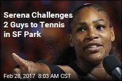 Serena Challenges 2 Guys to Tennis in SF Park