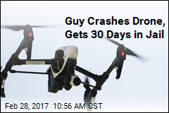 Guy Crashes Drone, Gets 30 Days in Jail