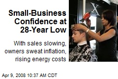 Small-Business Confidence at 28-Year Low