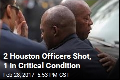 2 Houston Officers Shot, 1 in Critical Condition