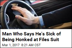 Man Who Says He's Sick of Being Honked at Files Suit