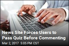 News Site Forces Users to Pass Quiz Before Commenting