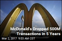 McDonald's Dropped 500M Transactions in 5 Years