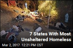 7 States With Most Unsheltered Homeless