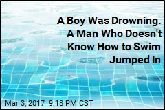 A Boy Was Drowning. A Man Who Doesn't Know How to Swim Jumped In