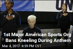 US Soccer Bans Kneeling During National Anthem