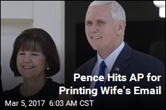 Pence Hits AP for Printing Wife's Email