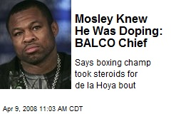 Mosley Knew He Was Doping: BALCO Chief