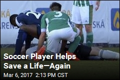 Soccer Player Helps Save a Life—Again