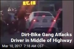 Dirt-Bike Gang Attacks Uber Driver on SF Highway