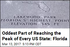 Quirkiest Part of Reaching the Peak of Every US State: Florida