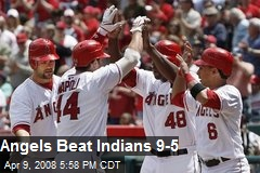 Angels Beat Indians 9-5
