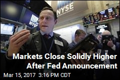 Markets Close Solidly Higher After Fed Announcement