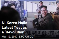 N. Korea Hails Latest Test as a 'Revolution'