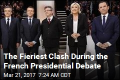 The Fieriest Clash During the French Presidential Debate