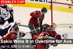 Sakic Wins It in Overtime for Avs