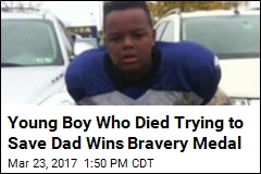 Boy, 12, Wins Bravery Medal After Trying to Save Dad