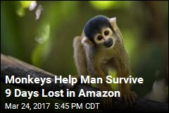 Monkeys Help Man Survive 9 Days Lost in Amazon