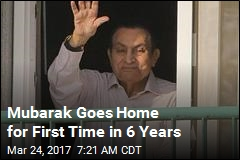 Egypt's Mubarak Goes Home After 6 Years in Custody