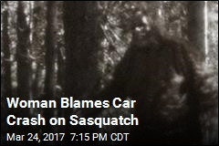 Woman Blames Car Crash on Bigfoot