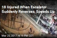 18 Injured When Escalator Suddenly Reverses, Speeds Up