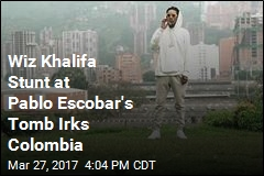 Wiz Khalifa Smokes at Pablo Escobar's Tomb, Colombia Not Happy