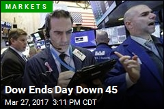 Dow Ends Day Down 45