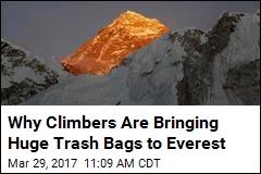 Everest Clean-Up Effort Involves Massive Trash Bags