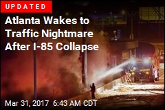Section of I-85 Collapses After Massive Atlanta Fire