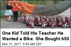 Teacher Raises Enough to Buy Every Kid at School a Bike