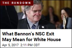 Steve Bannon No Longer on National Security Council