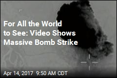 Pentagon Shares Video of Massive Bomb Strike