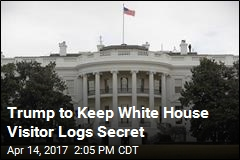 Trump to Keep White House Visitor Logs Secret