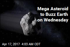 Mega Asteroid to Buzz Earth on Wednesday