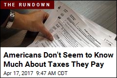 Americans Don't Seem to Know Much About Taxes They Pay