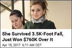 Girl Who Survived Parachute Malfunction Awarded $760K