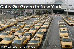 Cabs Go Green in New York