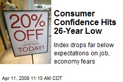 Consumer Confidence Hits 26-Year Low